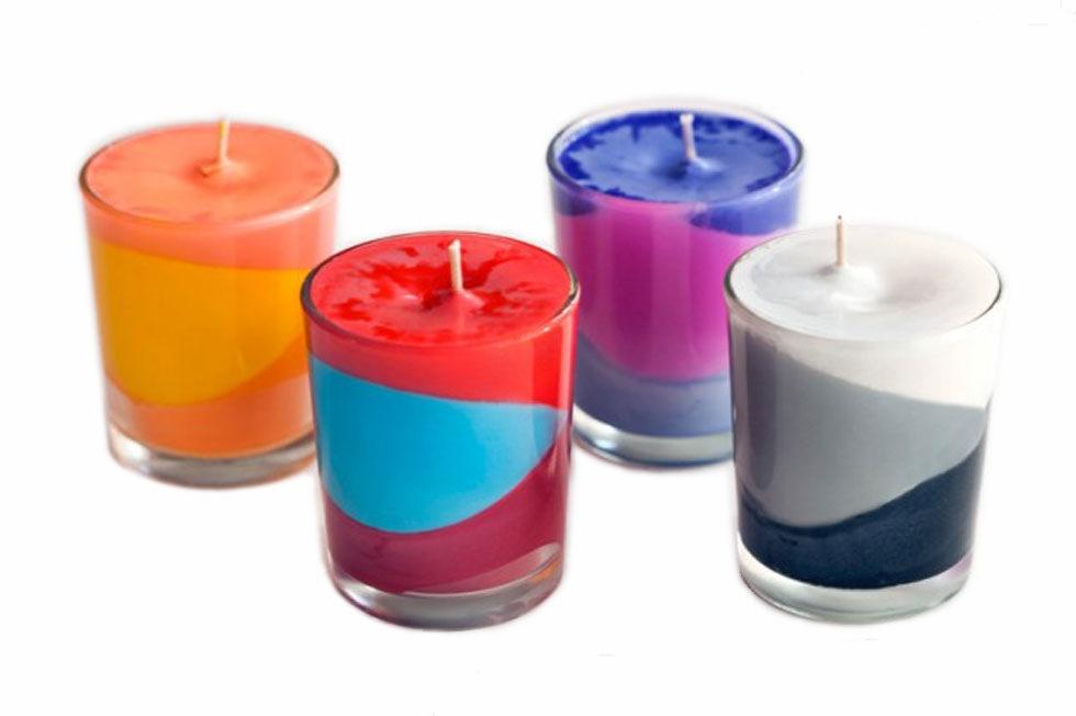 Свечи своими руками цветные